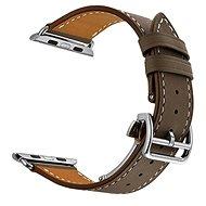 Eternico Apple Watch 38mm Leather Strap Dark Brown - Armband