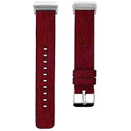 Eternico Fitbit Charge 3/4 Canvas rot (klein) - Armband