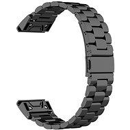 Eternico Garmin 22 Edelstahlarmband Schwarz Stahlschnalle Schwarz - Armband