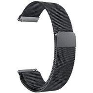 Eternico Quick Release 20 Milanese Band schwarz für Samsung Galaxy Watch - Armband