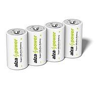 Einwegbatterie AlzaPower Super Alkaline LR14 (C) 4St in Öko-Box