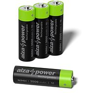 AlzaPower Rechargeable HR6 (AA) 2500 mAh - 4 Stück in Öko-Box - Akku