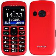 Aligator A670 Senior Red + Tisch-Ladegerät - Handy
