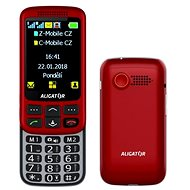 Aligator VS900 Senior rot / silber + Desktop-Ladegerät - Handy für Senioren