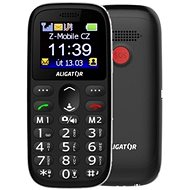 Aligator A510 Senior schwarz + Desktop-Ladegerät - Handy