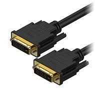 AlzaPower DVI-D zu DVI-D Dual Link-Verbindung 1m - Videokabel
