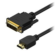 AlzaPower DVI-D für HDMI Single Link Link 2m - Videokabel