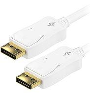 AlzaPower Adapter DisplayPort (M) auf DisplayPort (M) 1,5 m - weiss - Videokabel