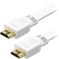 AlzaPower Flat HDMI 1.4 High Speed 4K 1 m - weiß - Videokabel