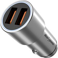AlzaPower Car Charger X520 Fast Charge Silber - Autoladegerät