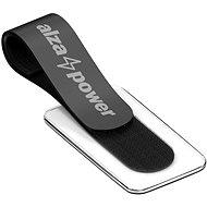 Kabelorganisator AlzaPower VelcroStrap+ mit beschreibbarem Etikett - 10 Stück - schwarz - Organizér kabelů