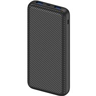 AlzaPower Carbon 20.000mAh Fast Charge + PD3.0 schwarz - Powerbank