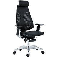 ANTARES Genidia Bürostuhl in der silber-schwarzen Ausführung mit glänzendem Gestell - Bürostuhl