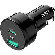 Aukey Adaptive USB-C Charge 2.0 2- Port Car Charger - Kfz-Ladegerät
