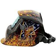 GEKO Svářecí kukla samostmívací s plameny - Maske