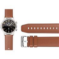Aligator Watch 22 mm - Leder-/Silikonarmband - braun - Armband