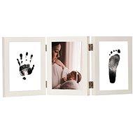 GOLD BABY Öffnungs-Tri-Frame für Tintenabdruck - weiß - Abdruck-Set