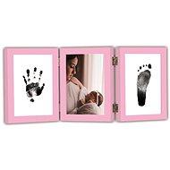 GOLD BABY Öffnungs-Tri-Frame für Tintenaufdruck - pink - Abdruck-Set