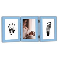 GOLD BABY Öffnungs-Tri-Frame für Tintenabdruck - blau - Abdruck-Set