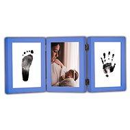 GOLD BABY Öffnungs-Tri-Frame für Tintenabdruck - dunkelblau - Abdruck-Set