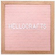 GOLD BABY Letterboard - 360 Buchstaben - hellrosa - Pinwand