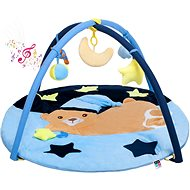 PlayTo Hrací deka s melodií PlayTo spící medvídek modrá - Kinderdecke