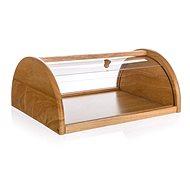BANQUET BRILLANTE Brotbox aus Gummibaumholz mit Kunststoffdeckel 36 cm x 27 cm x 15 cm - Brotkasten