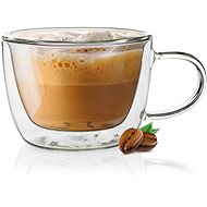 Becher BANQUET DOBLO Cappucino 300ml doppelwandiger Becher aus Glas - Tasse