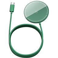 aseus Mini Magnetic Wireless Charger USB-C kable 1,5m 15W Green - Kabelloses Ladegerät