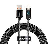 Baseus Display Fast Charging Data Cable USB to Type-C 5 A 2 m Black - Ladekabel - Datenkabel