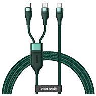 Baseus Schnellladedatenkabel Flash-Series Typ C zu Dual USB-C 100W 1,5 m grün - Datenkabel
