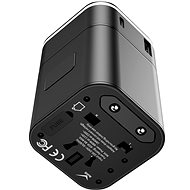Baseus Abnehmbarer 2-in-1-Universal-Reiseadapter PPS Quick Charger Edition Schwarz