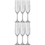 BOHEMIA CRYSTAL WATERFALL Champagnerglas / Sektglas 190 ml 6 Stück - Champagnergläser