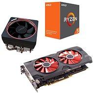 AMD Aktionspaket 4: VGA + CPU + Kühlkörper - Set