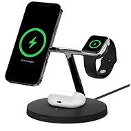 Belkin BOOST CHARGE PRO MagSafe 3in1 Kabelloses Ladegerät für iPhone/Apple Watch/AirPods, Schwarz - Kabelloses Ladegerät