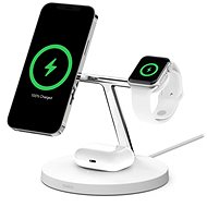 Belkin BOOST CHARGE PRO MagSafe 3in1 Kabelloses Ladegerät für iPhone/Apple Watch/AirPods, Weiß - Kabelloses Ladegerät