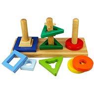 Dřevěná motorická hračka - Nasaď a otoč - Didaktisches Spielzeug