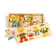 Holzfiguren-Bärenfamilie - Puzzle