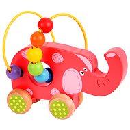 Didaktisches Spielzeug Motorisches Labyrinth auf Rädern - Elefant