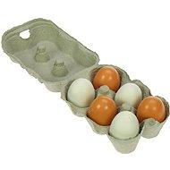 Dřevěné potraviny - Dřevěná vajíčka v krabičce - Spielset