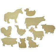 Holzvorlagen zum Abzeichnen - Haustiere - Kreativset