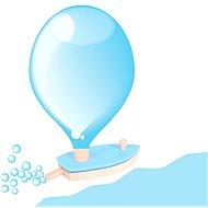 Dřevěná loďka na balónkový pohon - Wasserspielzeug