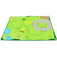 Spielmatte für Bigjigs Holzeisenbahnen mit Schienen - Spieleisenbahn-Zubehör