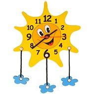Dětské dřevěné hodiny - Sluníčko s mráčky - Uhr fürs Kinderzimmer
