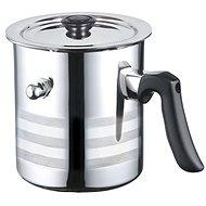 Blaumann mit Deckel Edelstahl 3l - Milchkocher