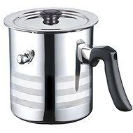 Blaumann Simmertopf aus Edelstahl mit Deckel 2,5 Liter - Milchkocher