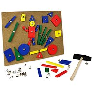 Holzhammer mit Stecknägeln - Spielset