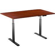 Tisch AlzaErgo Tisch ET2 schwarz + Tischplatte TTE-01 140x80cm braunes Furnier - Stůl