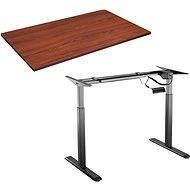 Tisch AlzaErgo Tisch ET2 schwarz + Tischplatte TTE-03 160x80cm braunes Furnier - Stůl