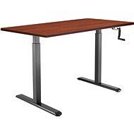 Tisch AlzaErgo Tisch ET3 schwarz + Tischplatte TTE-01 140x80cm braunes Furnier - Stůl